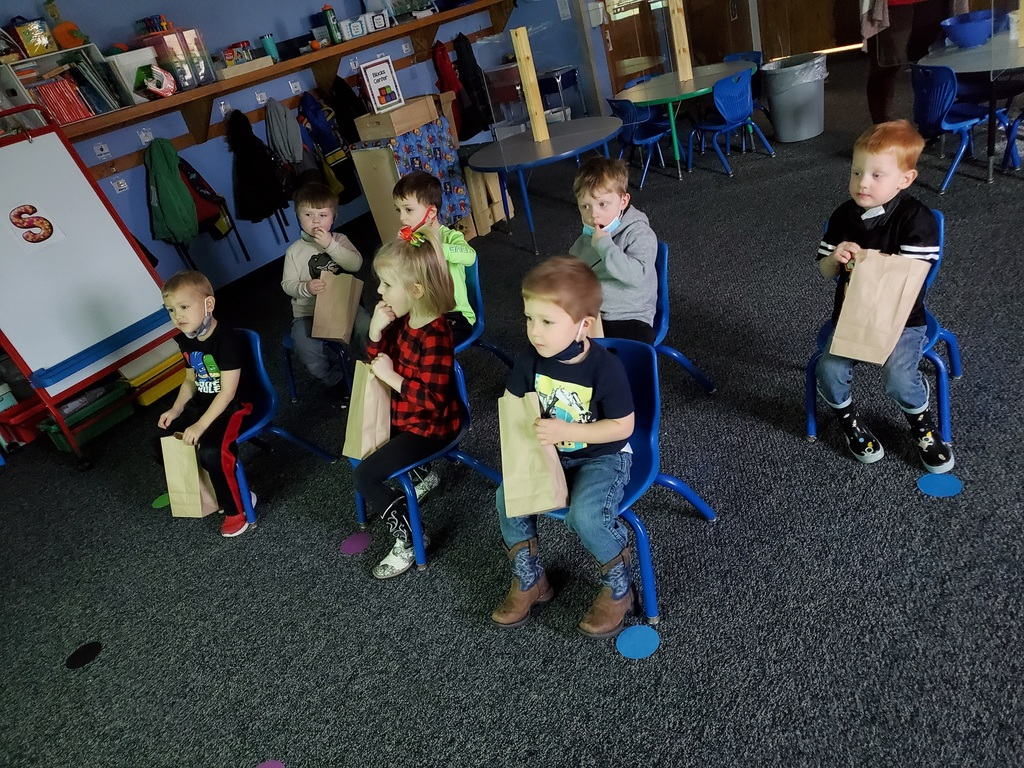 """Movie theater"" fun friday in 3 year old Pre-K."