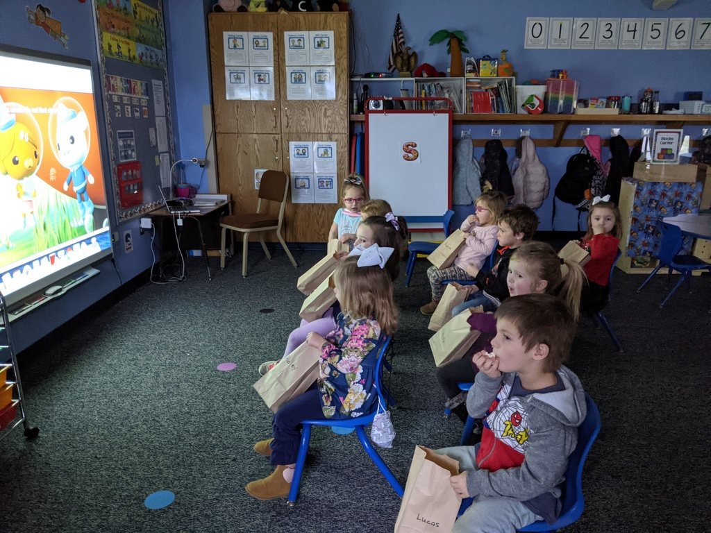 """Movie theater"" fun friday in PM 3 year old pre-k."