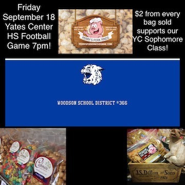 Perry's Pork Rinds at YCHS football game 9/18